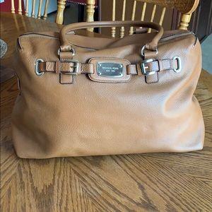 Michael Kors leather overnight bag